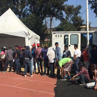Más de 2 mil centroamericanos en albergue de la Magdalena Mixiuhca