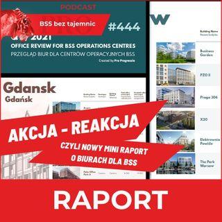#444 Akcja - Reakcja, czyli Pro Progressio publikuje nowy raport o biurach dla sektora BSS