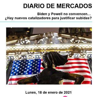 DIARIO DE MERCADOS Lunes 18 Enero