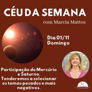 Céu da Semana - Domingo, dia 01/11: Participação de Mercúrio e Saturno.