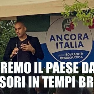 Francesco Toscano a Cavriana (Mn) Ricostruiremo una connessione sentimentale fra popolo e politica