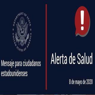 Lanza embajada de EUA en México alerta sanitaria para sus ciudadanos