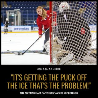 I'm good at stick handling... It's getting the puck off the ice that's the problem! | Aja Aguirre