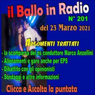 il ballo in radio 201 del 23/3