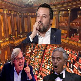 Sgarbi, Bocelli e Salvini i tre negazionisti della tavola rotonda