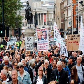Diversas manifestaciones en Europa contras las medidas de restricción por pandemia