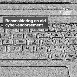 Rethinking a cybersecurity endorsement