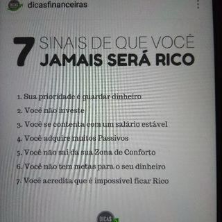 7 Sinais De Que Você Jamais Será Rico.