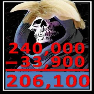 33,903 DEAD AMERICANS ONLY 206,100 TO GO! kEEP IT UP TRUMP, PUTIN AND REPUBLICANS keep doing NOTHING! Sad so sad LOVE!