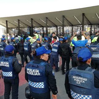 Operativo de seguridad y vialidad en el Azteca