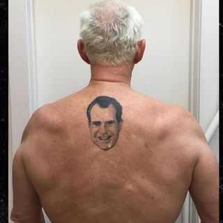90: The Man With the Nixon Back Tattoo