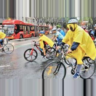 Ruedan por el Día Mundial de la Bicicleta, que sea una costumbre que vean a más ciclistas.