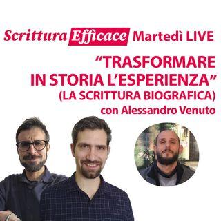 Trasformare in storia l'esperienza (la scrittura biografica), con Alessandro Venuto