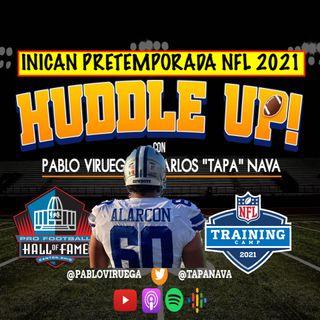 #HuddleUp Isaac Alarcón debutó con #Cowboys #Steelers #NFLHallOfFameGame inició #NFLPreseason @TapaNava y @PabloViruega