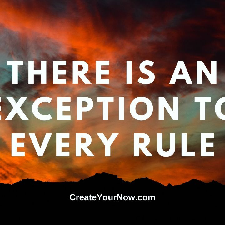2285 There is an Exception to Every Rule