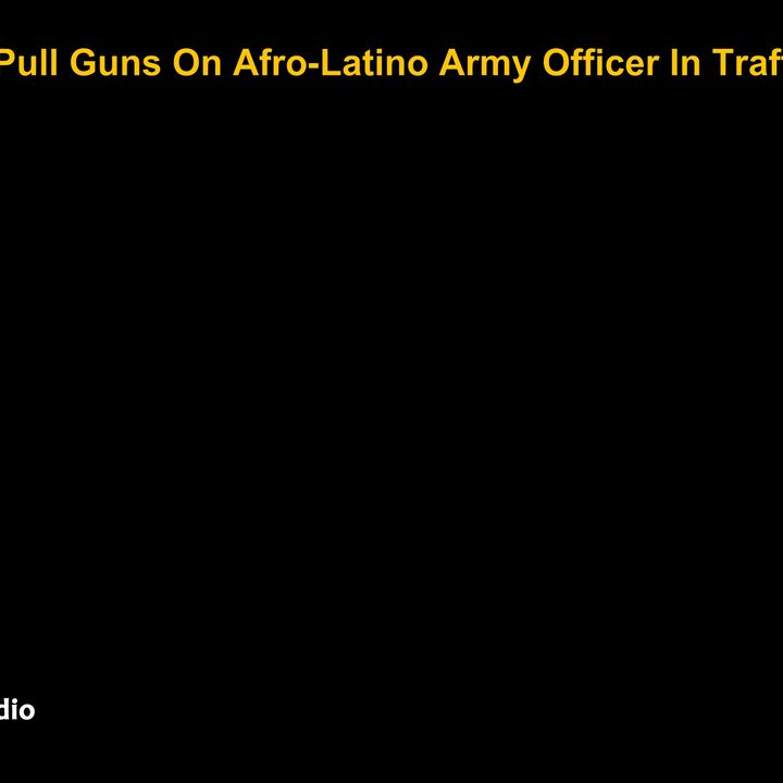 Police Pull Guns On Afro-Latino Army Officer In Traffic Stop