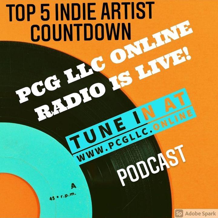 Indie Artist Top 5 Countdown on PCG Media