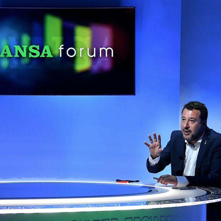 """Salvini: """"Io non prorogherei lo stato di emergenza"""""""