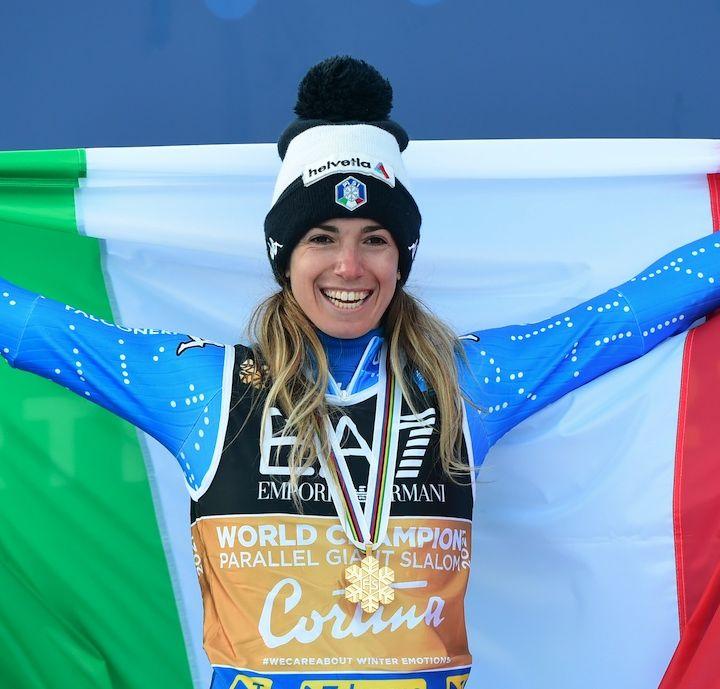 Marta Bassino commenta l'oro nel parallelo di Cortina