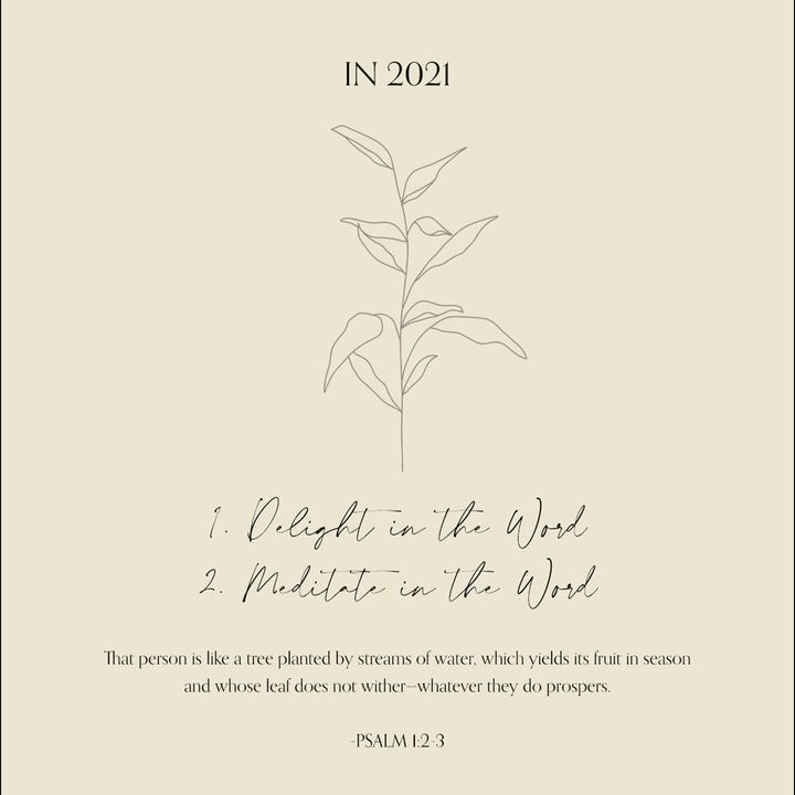 05 - In 2021... (Psalm 1:2-3) - Weekly Devotional with Nanda Green