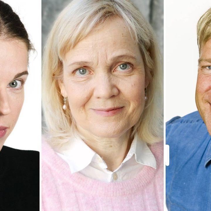 Gabriella Ahlström: Framtiden tillhör de pratglada. Calle Norlén: Mindre är mer i reklaminfernot. Jessika Gedin: Fikat är i fara!
