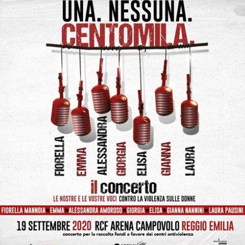 """""""UNA. NESSUNA. CENTOMILA."""", il concerto, contro la violenza di genere, che sette grandi artiste italiane terranno il 19 settembre 2020....."""