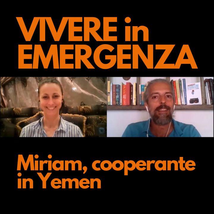 Miriam, cooperante in Yemen