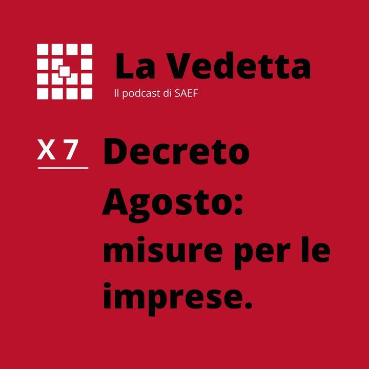 Decreto Agosto: misure per le imprese