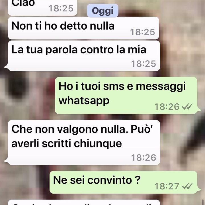 Whatsapp, sms ed Email prodotti in giudizio
