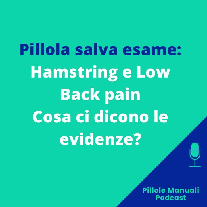 Pillola salva esame: Hamstrings e Low Back Pain, cosa ci dicono le EBM?