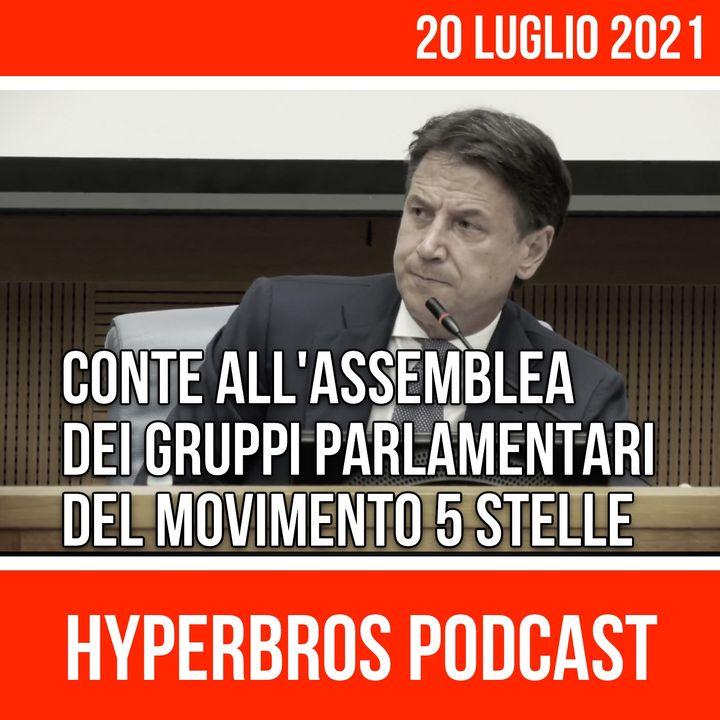 Giuseppe Conte interviene in assemblea gruppi parlamentari del M5S
