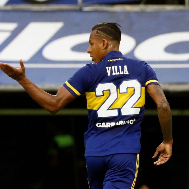 Gol de Boca: Sebastián Villa 1-0