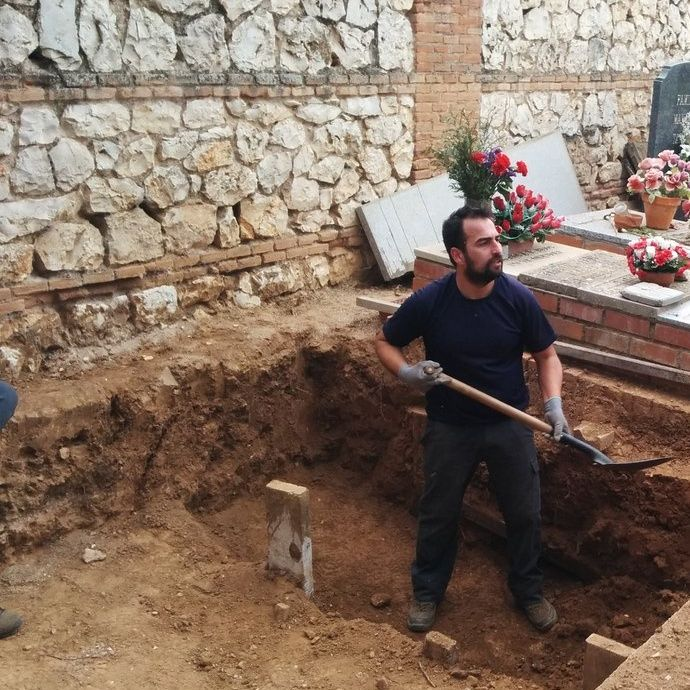 Acudimos a Guadalajara a la exhumación de la fosa de Timoteo Mendieta #LacafeteraNingunaFosaEsComún