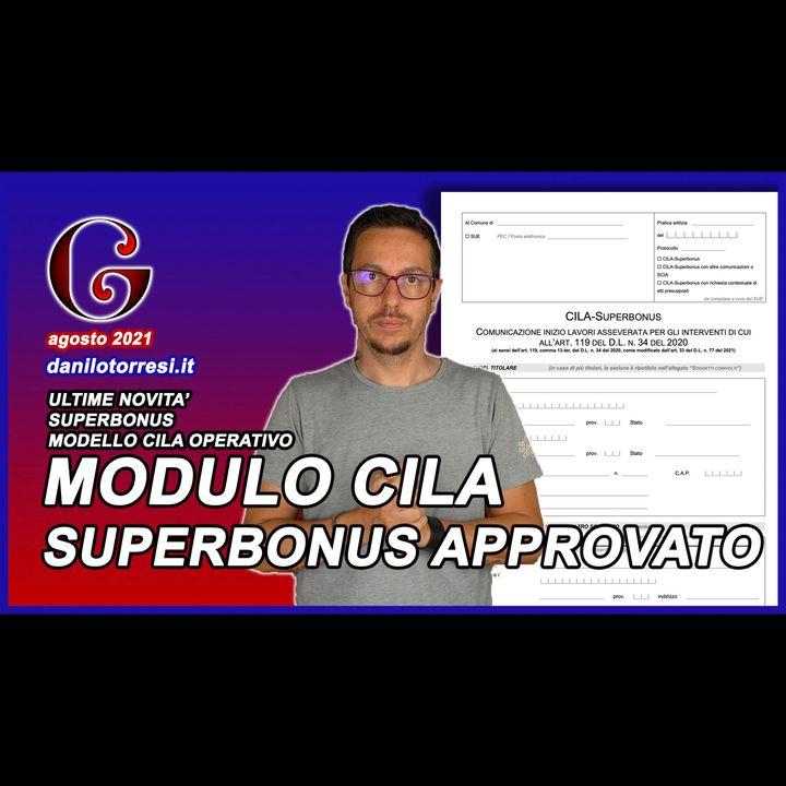 CILA SUPERBONUS 110 ultime notizie - modello approvato e operativo