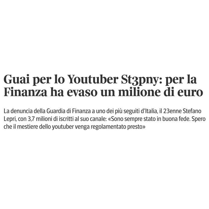 Lo YouTuber che ha evaso un MILIONE di EURO