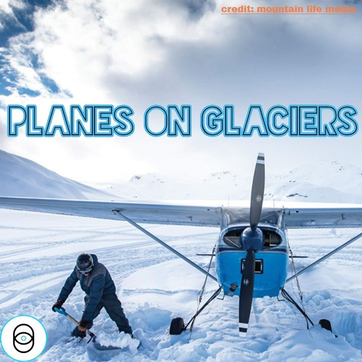 Landing my Plane on a Glacier for the First Time...
