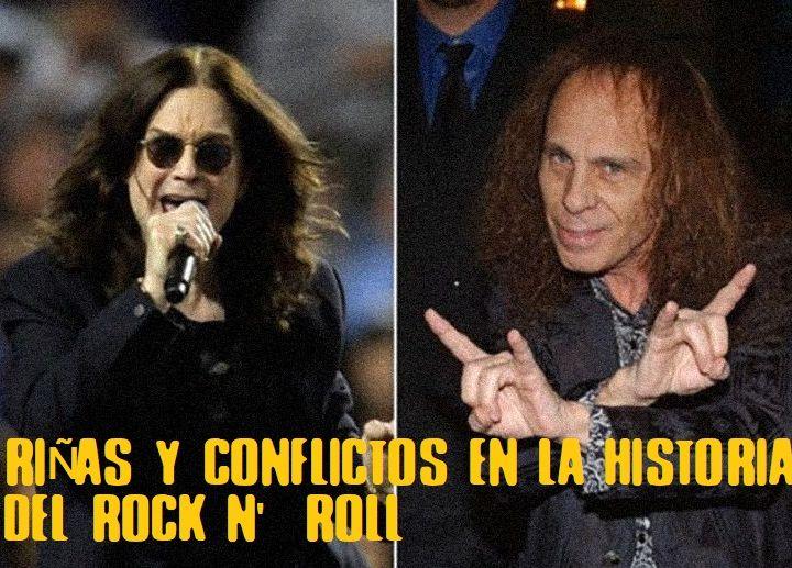 Riñas y conflictos en el Rock