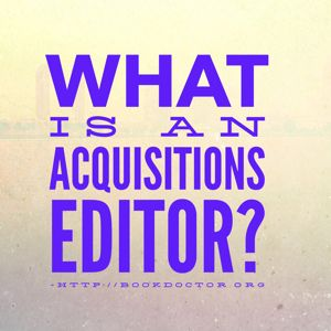 What is an acquisitions editor?
