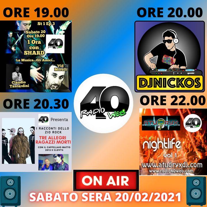 """Radio 40 """"Before The Night 2 Sabato sera 20/02/2021"""