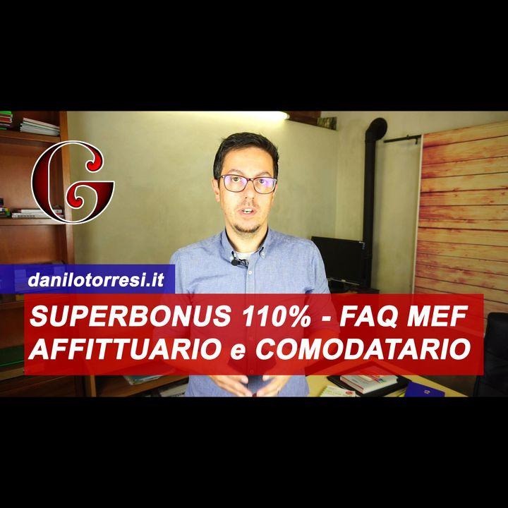 Affittuario e Comodatario: l'inquilino può beneficiare del Superbonus 110% - FAQ MEF