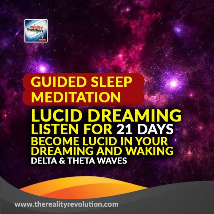 GUIDED SLEEP MEDITATION: LUCID DREAMING - BECOME LUCID IN YOUR DREAMING AND WAKING - DELTA & THETA WAVES 4hz 8hz 111hz 432hz 777hz 639hz 582