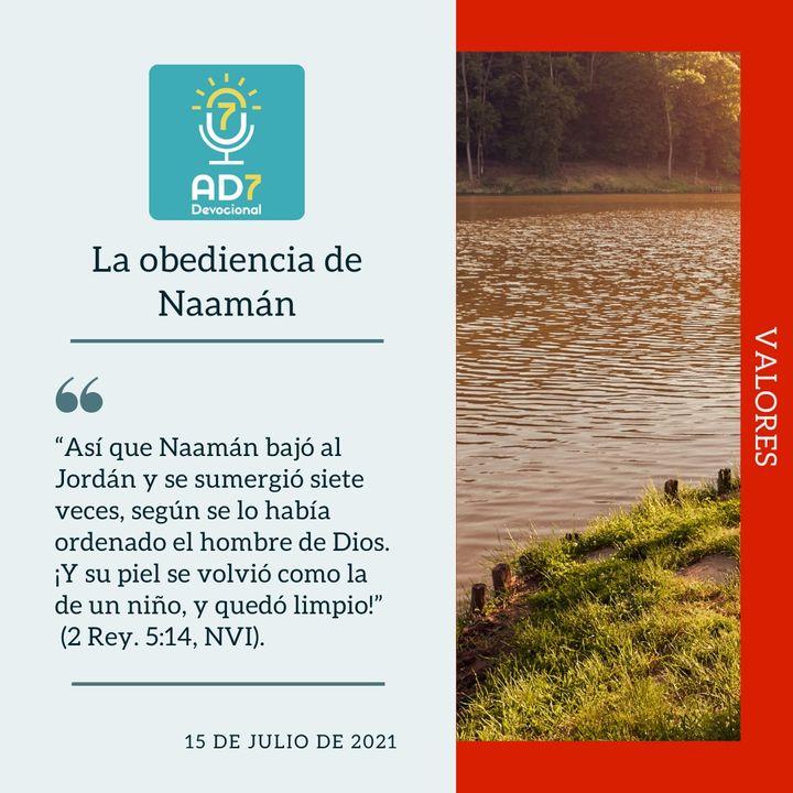 15 de julio - La obediencia de Naamán - Devocional de Jóvenes - Etiquetas Para Reflexionar