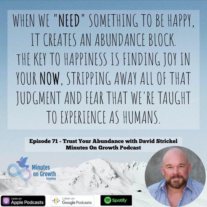 Trust Your Abundance with David Strickel