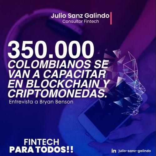 350.000 Colombianos se van a capacitar en Blockchain y Criptomonedas