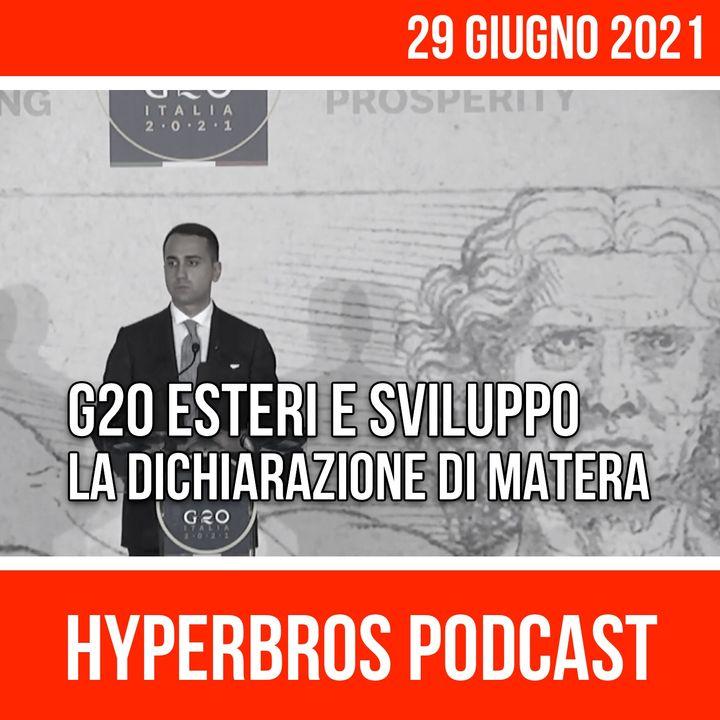 """Il G20 dei Ministri degli Esteri e Sviluppo adotta la """"Dichiarazione di Matera"""""""