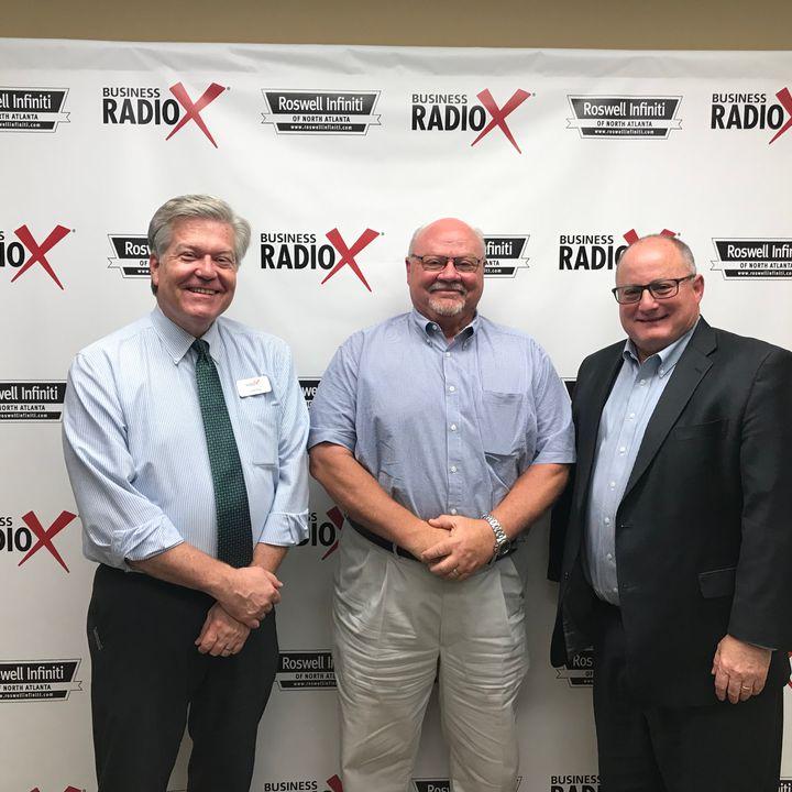 Mark McKenzie, Docqmax Digital Printing, and Tom Martin, ConnectPay