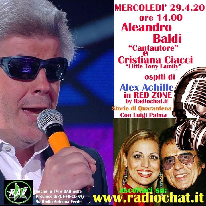 """Aleandro Baldi e Cristiana Ciacci (Little Tony Family) ospiti di Alex Achille in """"RED ZONE"""" by Radiochat.it"""