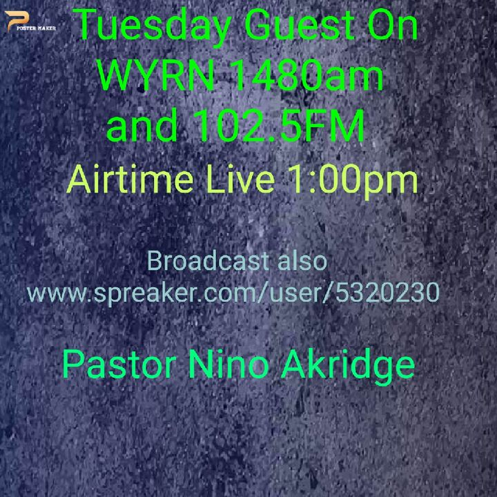 """Thank You For Joining Us! Today's Message """"Putting Our Complete Trust In God"""" messenger Pastor Nino Akridge"""