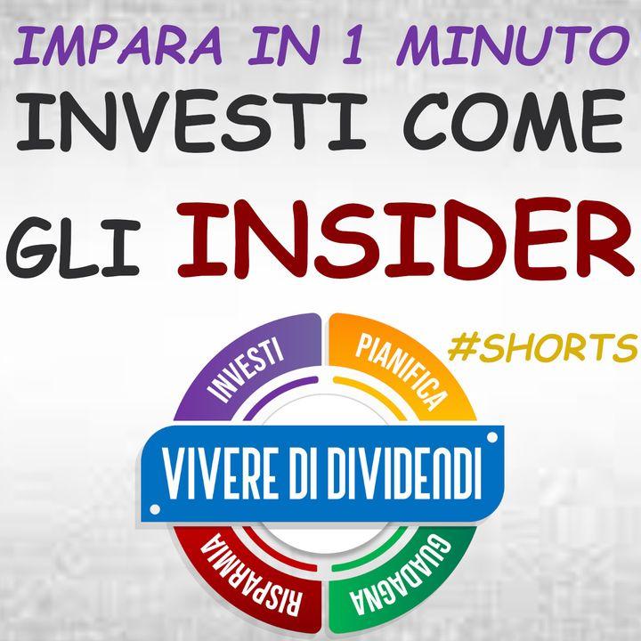 COME SCOPRIRE COSA FANNO GLI INSIDER DI UNA AZIONDA PRIMA DI INVESTIRE #shorts