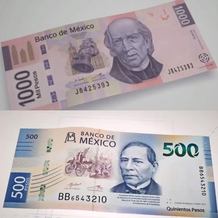 Billetes de 1000 y 500 pesos saldrían de circulación